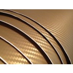 "Gold Carbon Fiber Vinyl Wrap 12"" Wide Sheet"