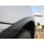 Black Carbon Fiber Wheel Well Molding 3/4